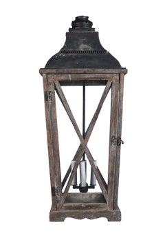 A Tall Wooden Lantern
