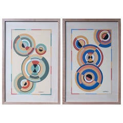 "Gouache Paintings, ""The Circle Series"" We Actually Have Four"