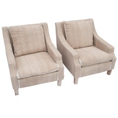 Pair of Napoleon III Club Chairs