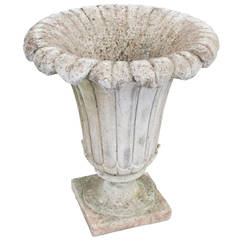Cement Planter in the Form of a Lily Flower