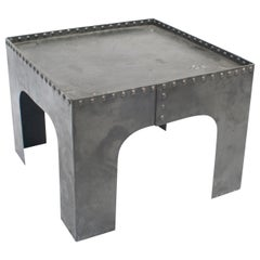 Small Square Industrial Metal Coffee Table