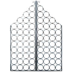 Pair of Heavy Cast Iron Gates