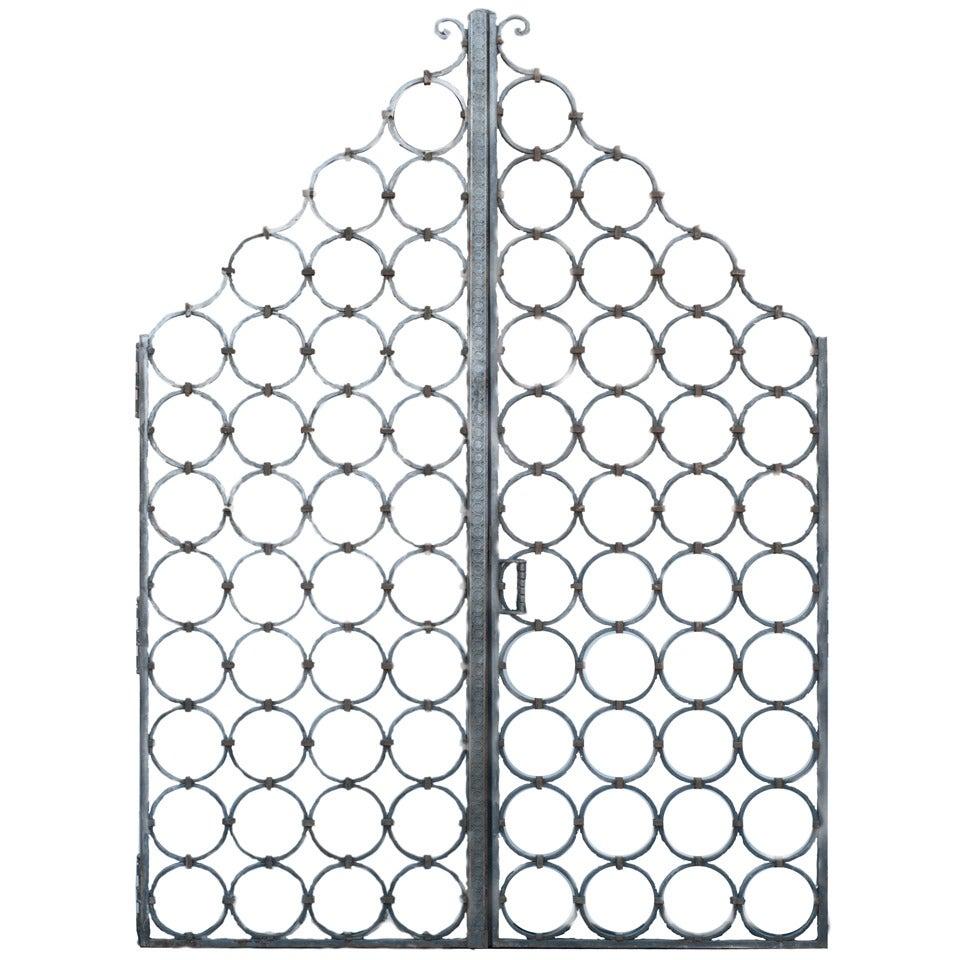 Pair of Heavy Cast Iron Gates