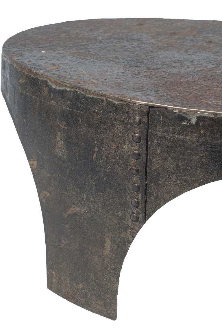 Industrial Style Coffee Tables Round Industrial Style Coffee Table At 1stdibs