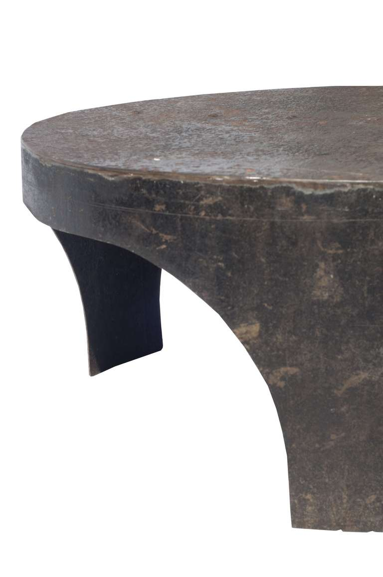 Round Industrial Style Coffee Table At 1stdibs