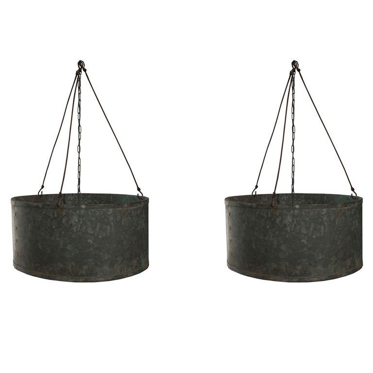 Set of Four Big, Round Chandelier For Sale