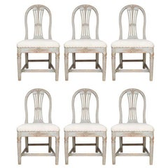 Set of Six Gustavian Dining Chairs