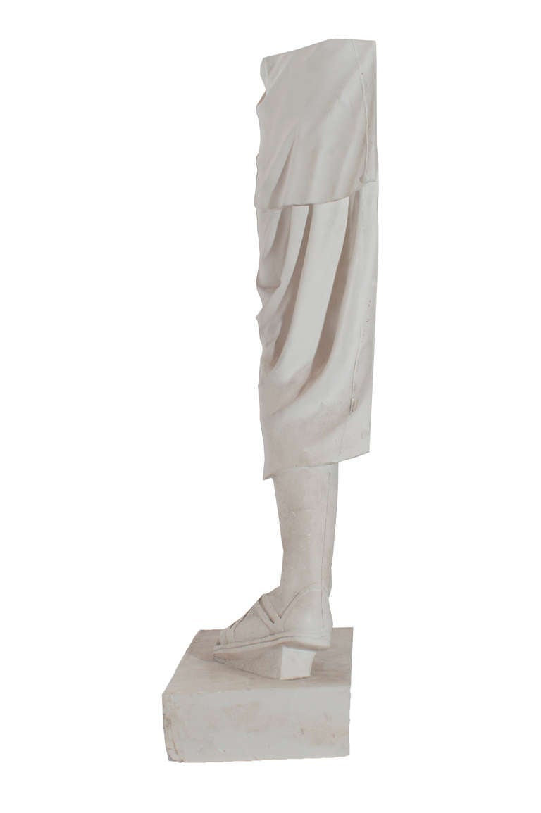 Mid-20th Century Plaster Model of a Copy of a Roman Antiquities For Sale