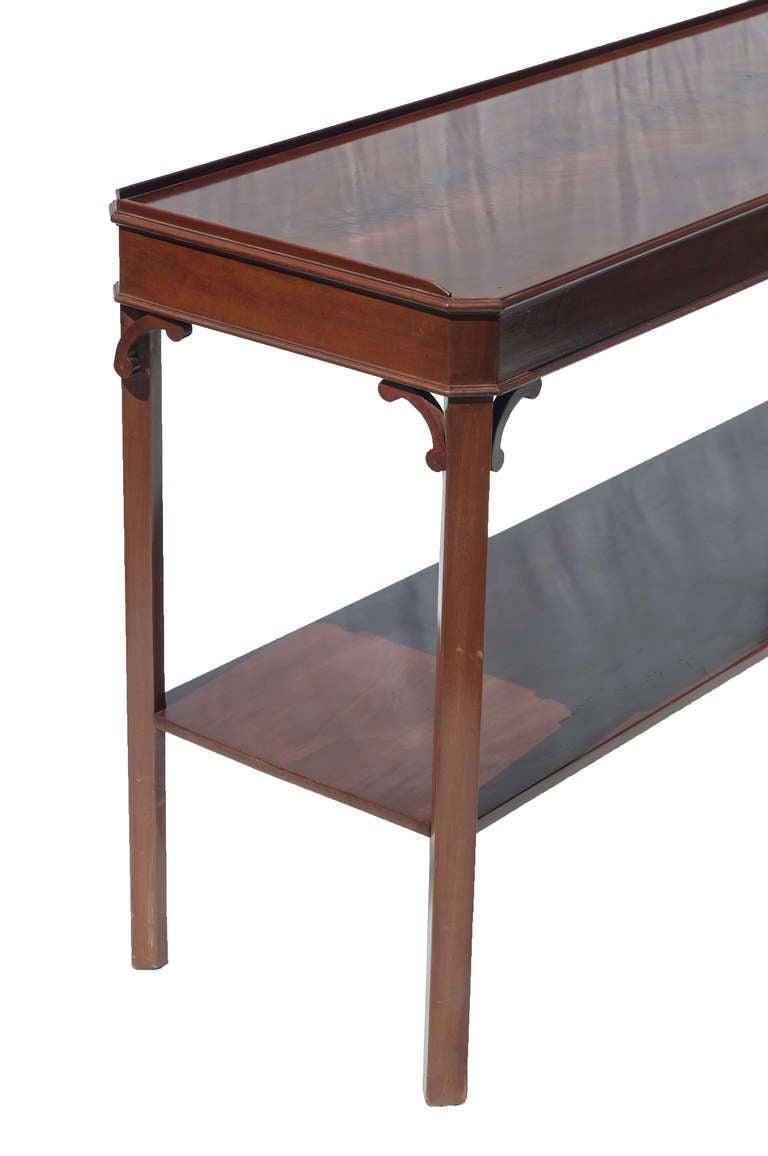 Pair of Mahogany Console Tables 2