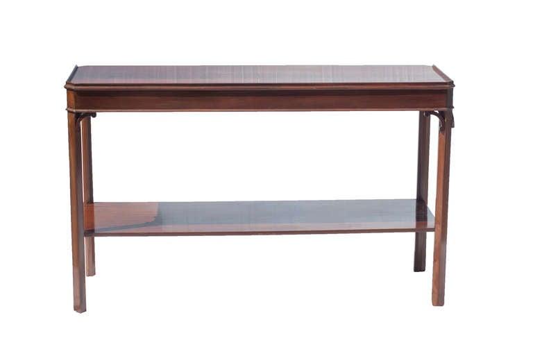 Pair of Mahogany Console Tables 4