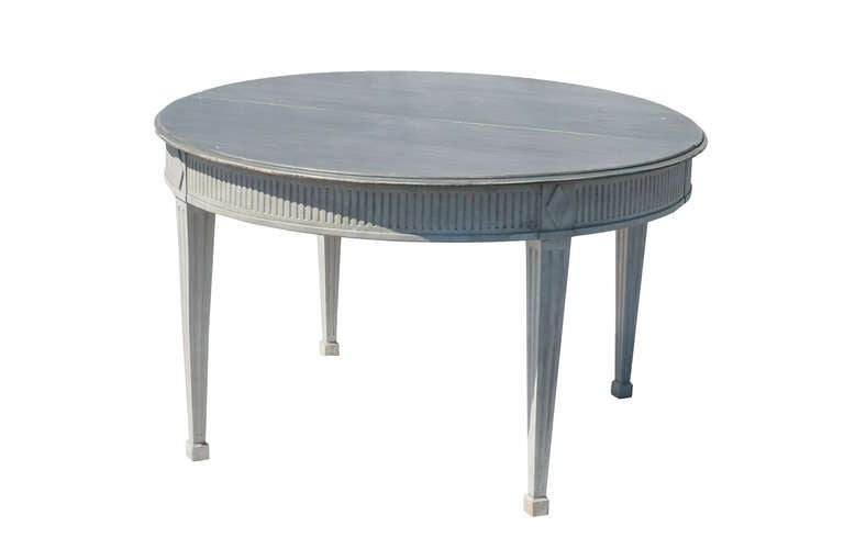 Grey Painted Neoclassical Style Dining Table At 1stdibs
