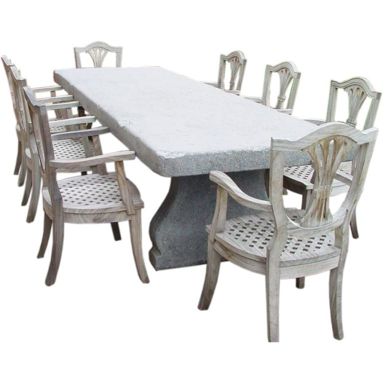 Belgium Blue Stone Table For Sale