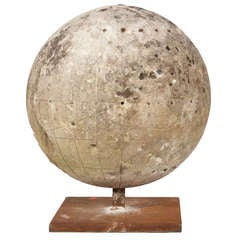Stone Globe on a Steel Base