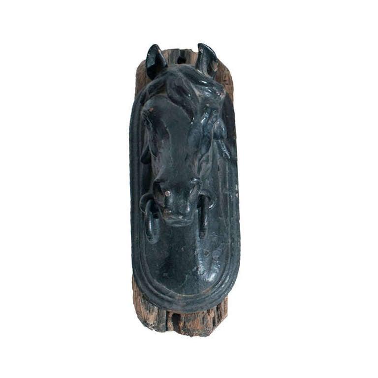 Painted horse head door knocker at 1stdibs - Horse head door knocker ...