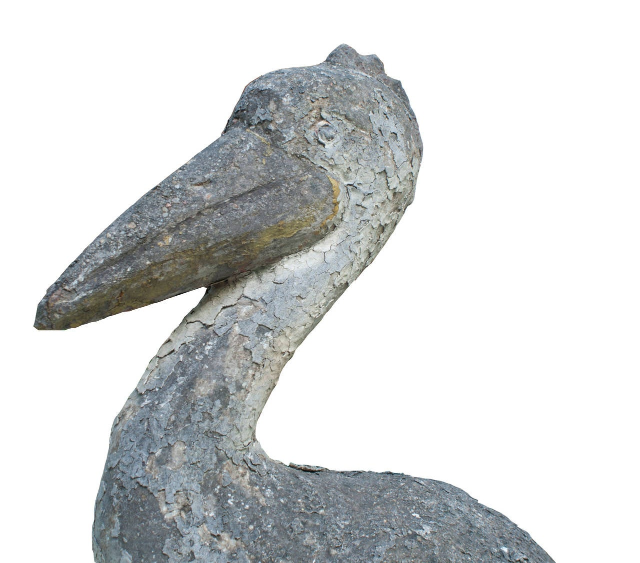 Painted Cement Pelican Garden Ornament at 1stdibs