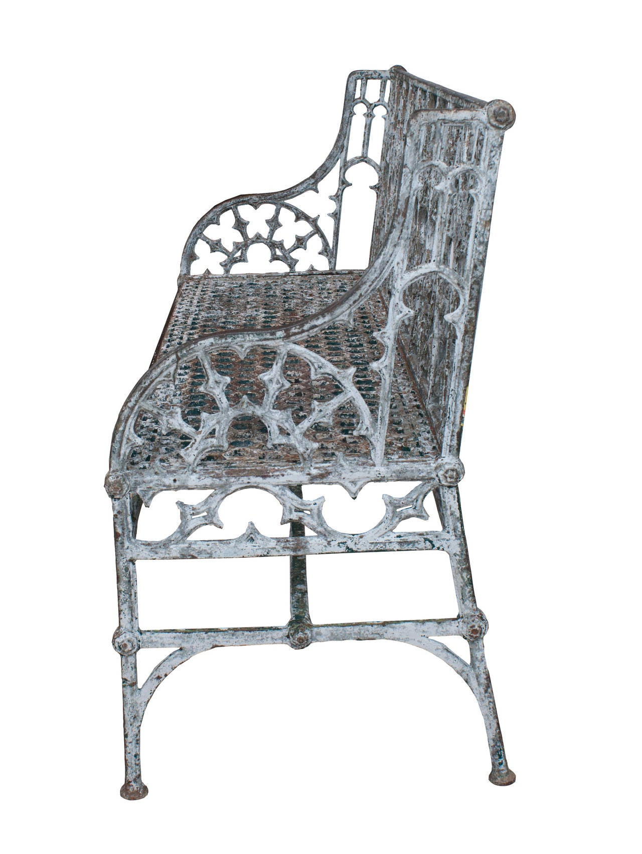 Cast Of Benched : Cast iron gothic bench for sale at stdibs