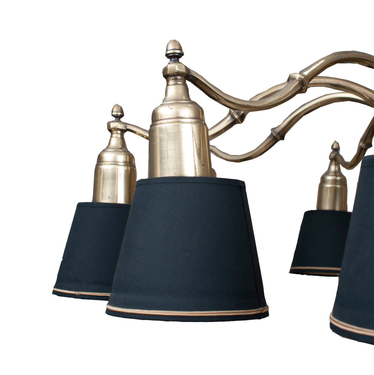 Admiral Bronze Chandelier with ten lights and original black shades 3
