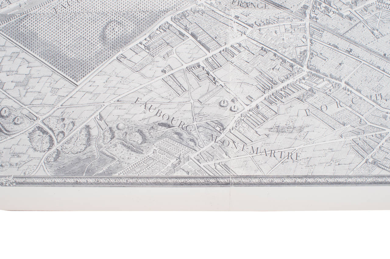Very large great map of Paris in France.