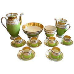 Set of porcelain de Paris coffee & tea service