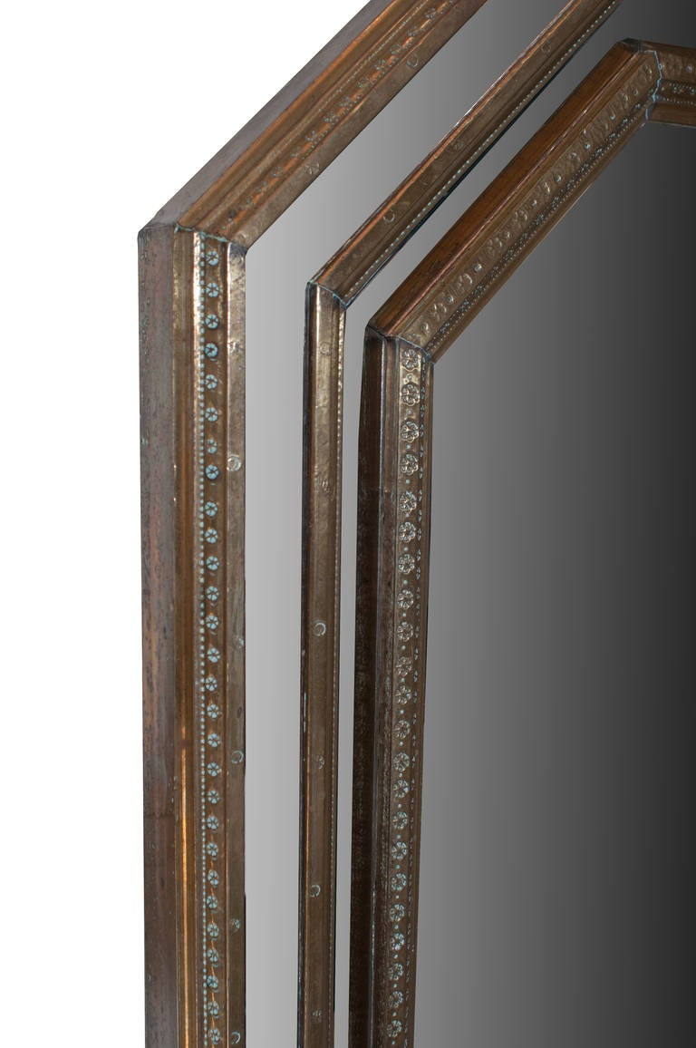 Bronze Octagonal Shaped Mirror in the