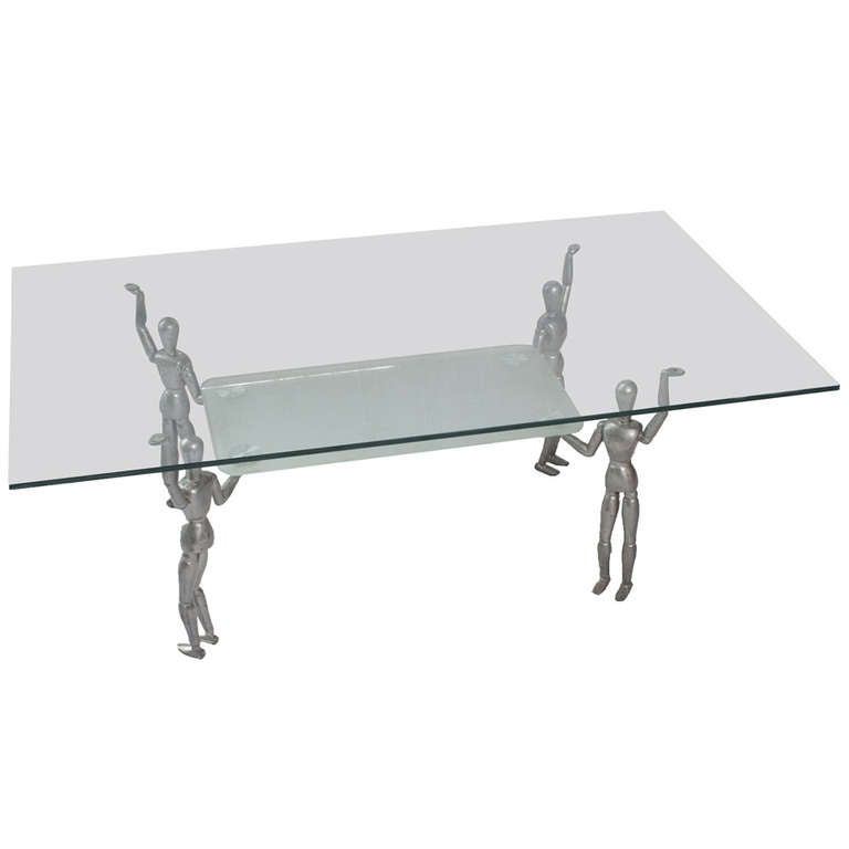 A Modern Glass Top Coffee Table For Sale At 1stdibs