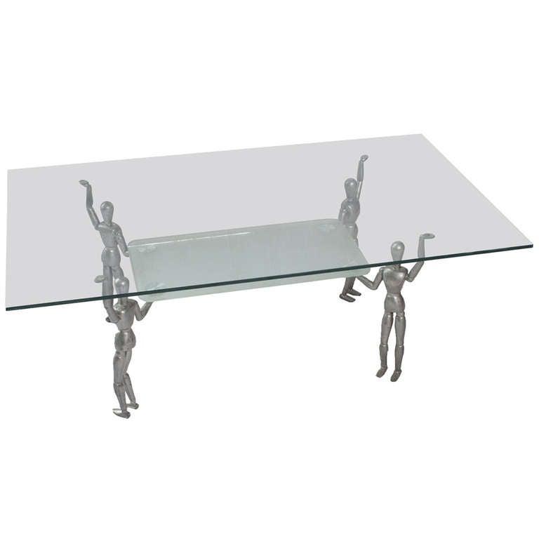A Modern Glass Top Coffee Table