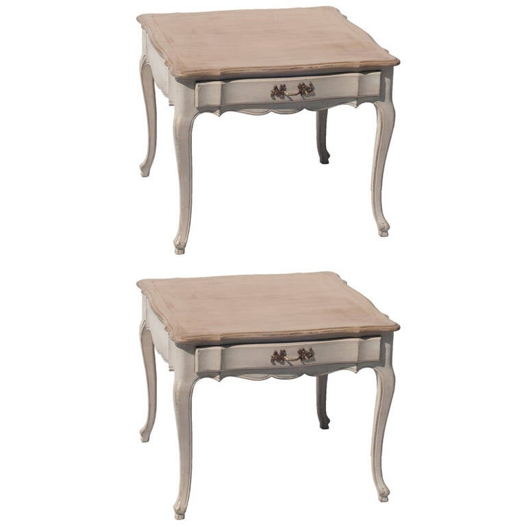 Charming Pair Of Louis XV Style Low Side Tables 1