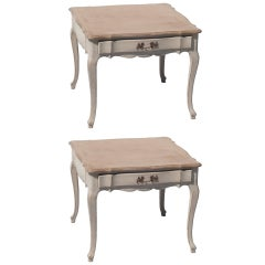Pair of Louis XV Style Low Side Tables