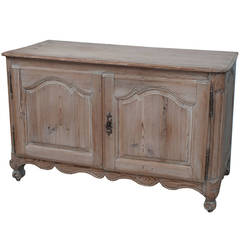 Small Louis XVI Buffet or Sideboard in Natural Pine