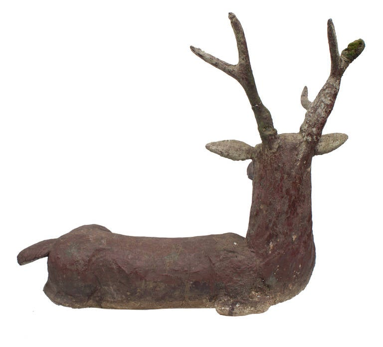 19th Century A Cement Deer/Cerf For Sale
