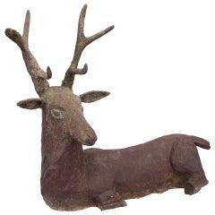 A Cement Deer/Cerf