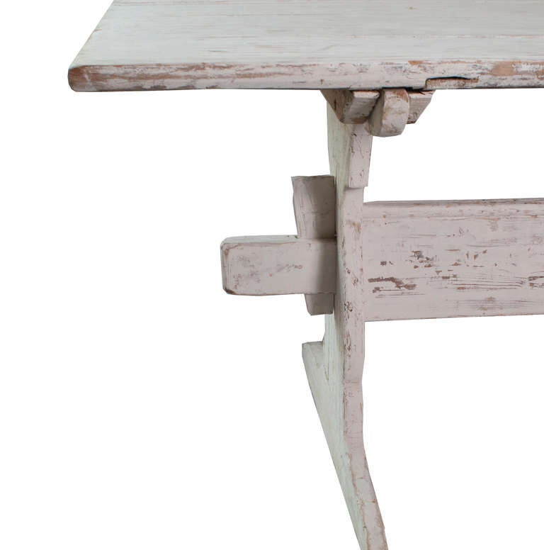 A White Painted Stretch Leg Swedish Table image 2