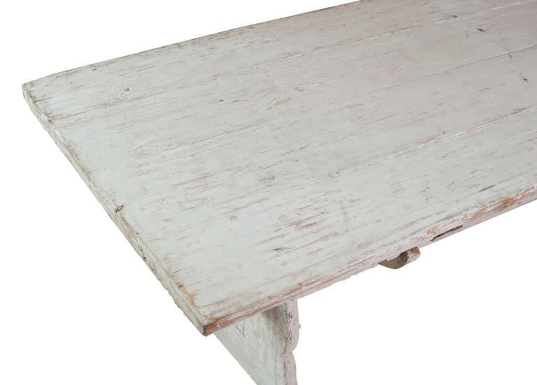 A White Painted Stretch Leg Swedish Table image 3