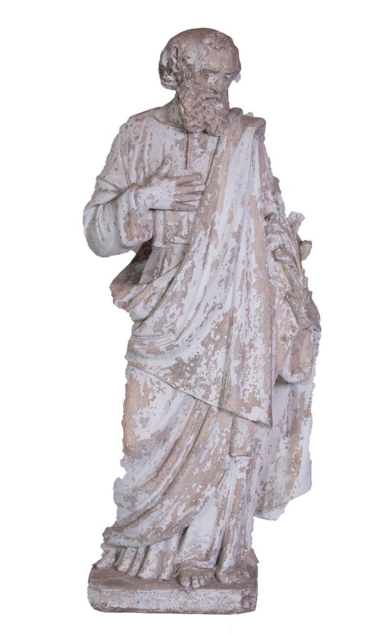 Saint Phillipe Benizzi Terra Cotta Statue For Sale