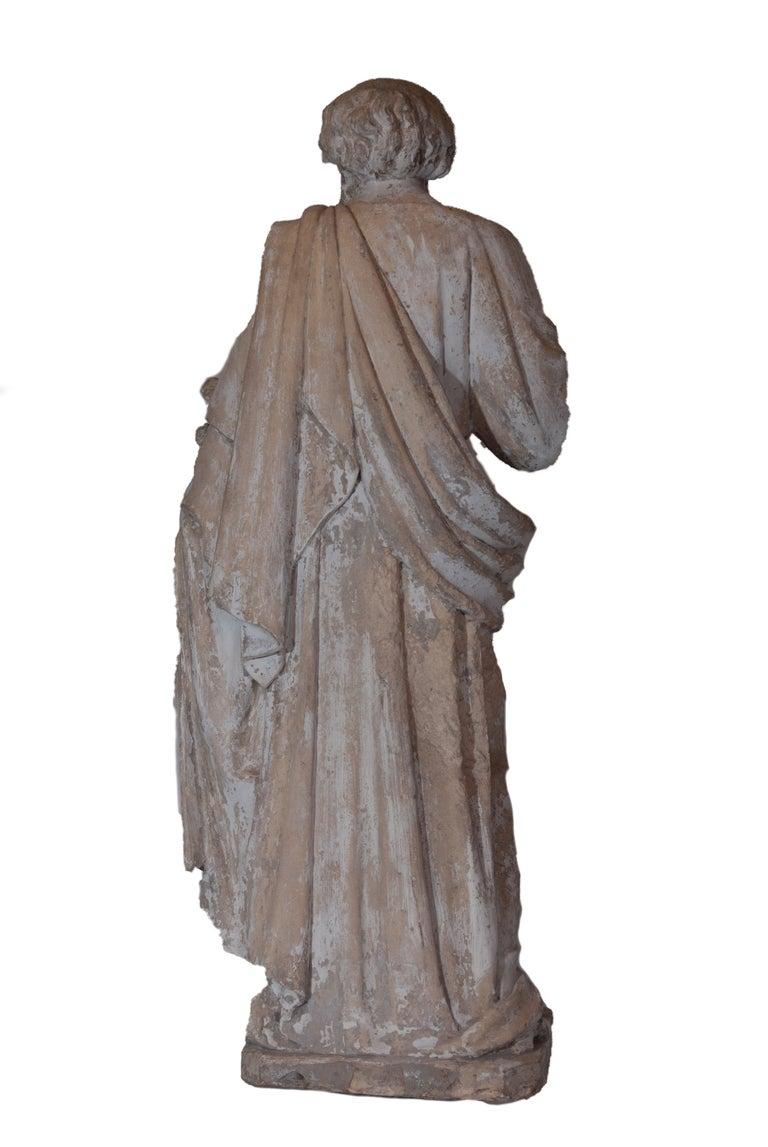 Saint Phillipe Benizzi Terra Cotta Statue In Good Condition For Sale In Washington, DC