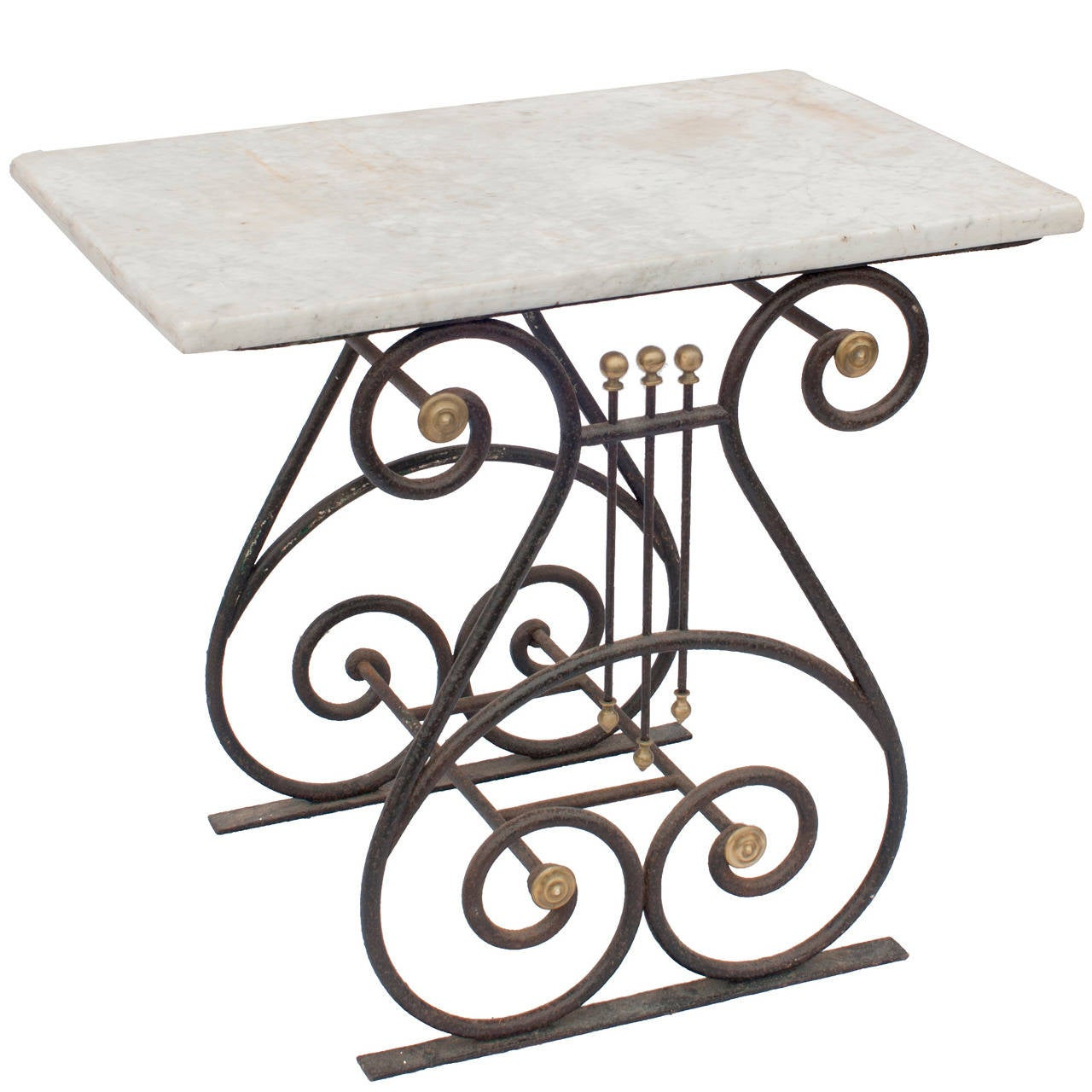 A Directoire Marble Pastry Table - All Original