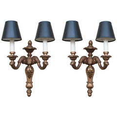 Pair of Neoclassical Style Giltwood Sconces