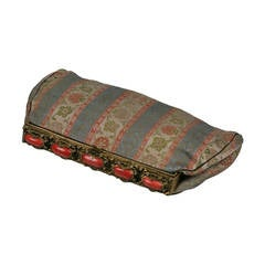 Coral and Brocade Art Deco Clutch