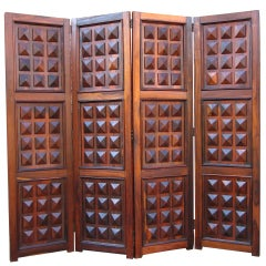 Brazilian Rosewood Folding Screen