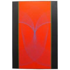 """Eduardo Mac Entyre Painting """"Dos Bandas Negras"""""""