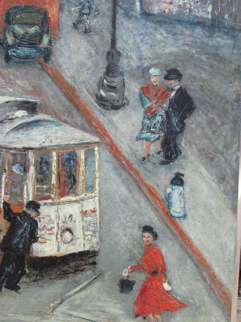 San Francisco Cable Car Painting At 1stdibs