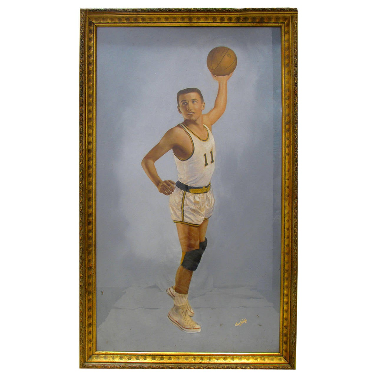Basketball Player, Hand-Tinted  Photograph