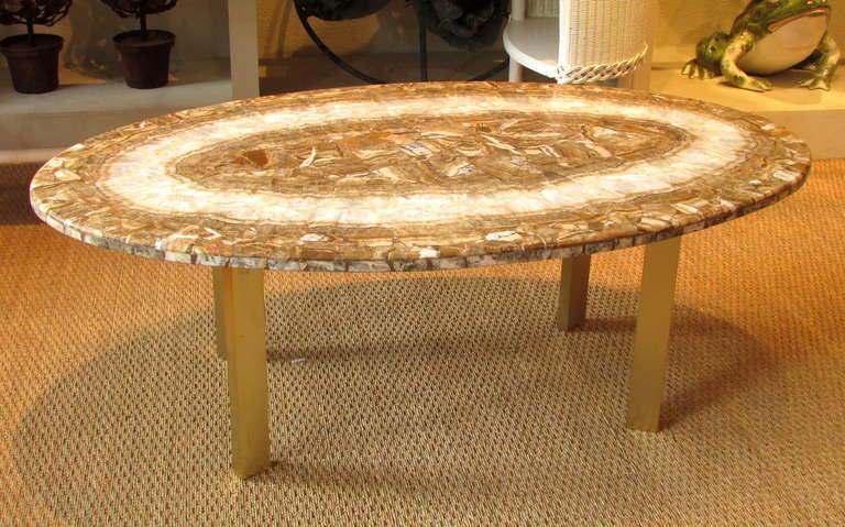 Petrified wood coffee table at 1stdibs