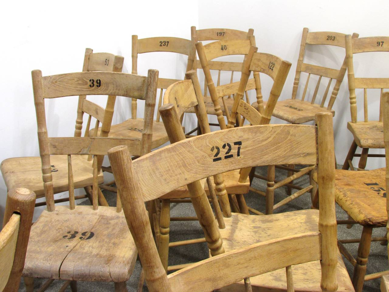 Grange Hall Chair 24 Available In Distressed Condition For Sale In High Point, NC