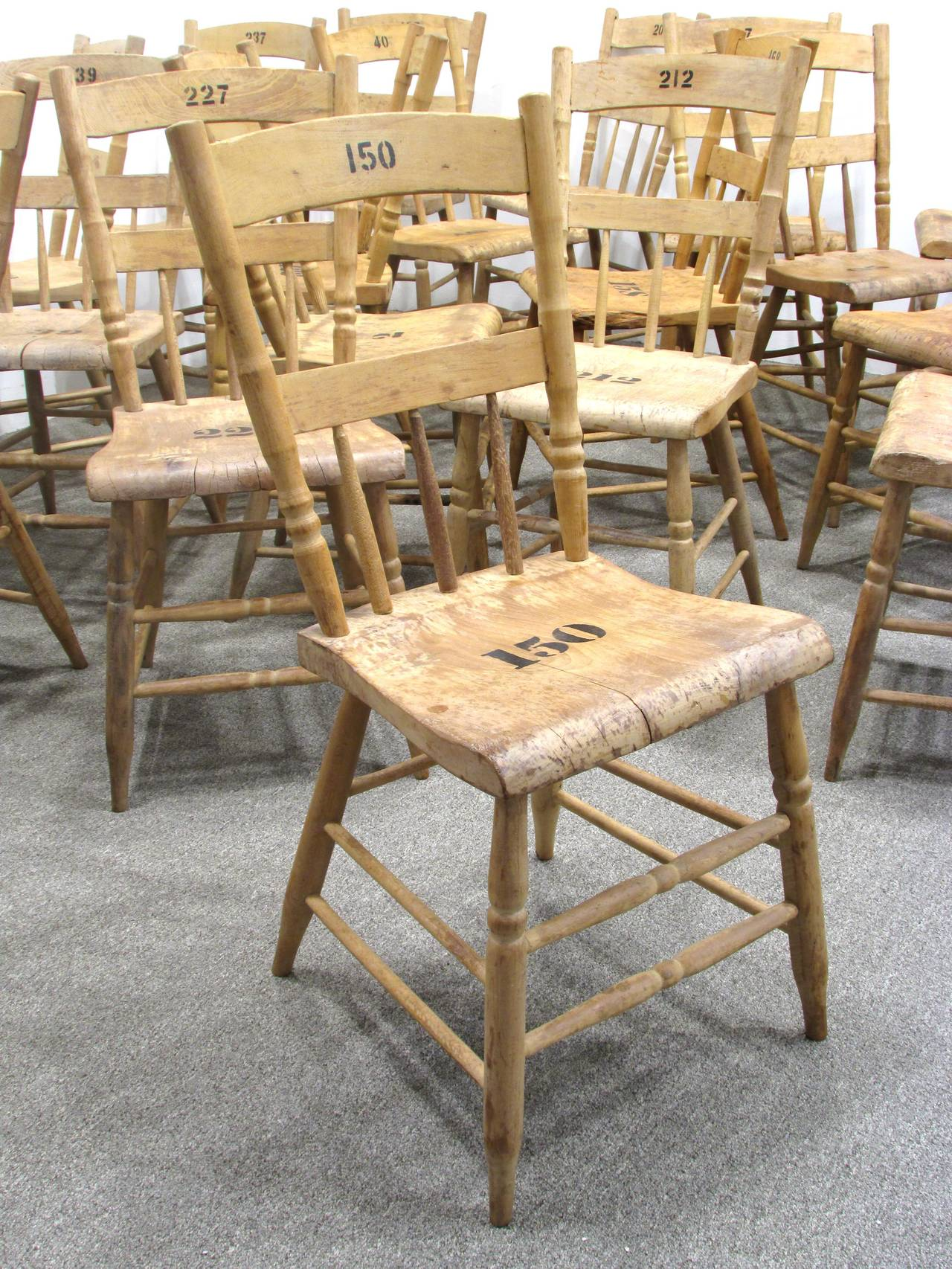 19th Century Grange Hall Chair 24 Available For Sale