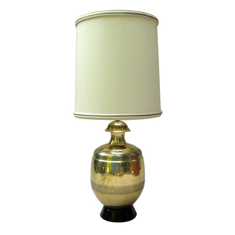 Huge Marbro Brass Lamp At 1stdibs