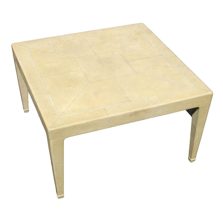 shagreen and ivory coffee table at 1stdibs