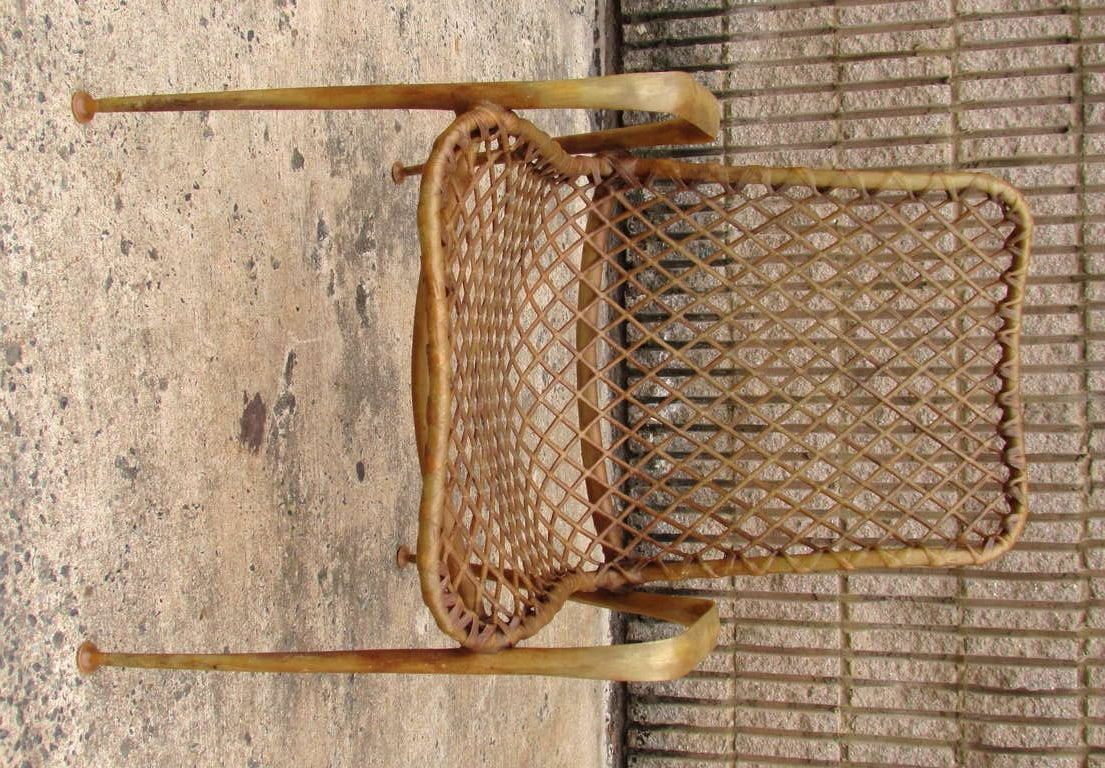 American Set of Four Resin String Chairs For Sale