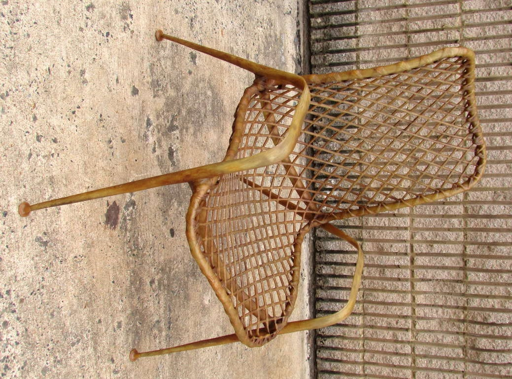 Set of Four Resin String Chairs In Excellent Condition For Sale In High Point, NC