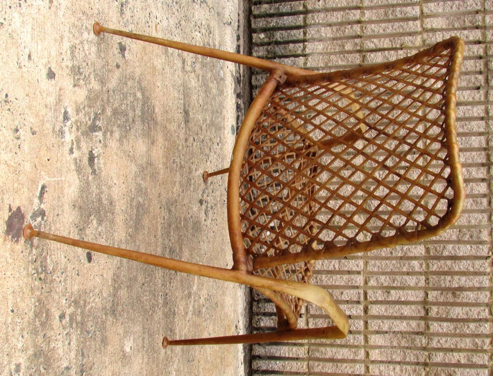 Set of Four Resin String Chairs For Sale 1